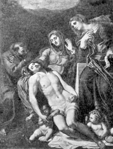 FIG. 54.—ANNIBALE CARACCI. ENTOMBMENT OF CHRIST. LOUVRE.